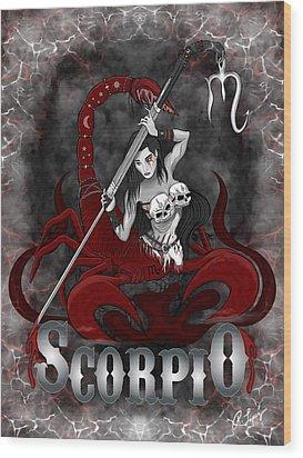The Scorpion Scorpio Spirit Wood Print