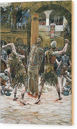 The Scourging Wood Print by Tissot