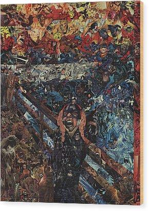 The Scream After Edvard Munch Wood Print