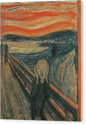 The Scream  Wood Print by Edward Munch
