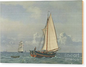 The Sea Wood Print by Christoffer Wilhelm Eckersberg