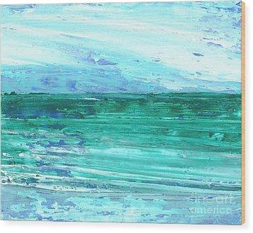 The Sea Wood Print