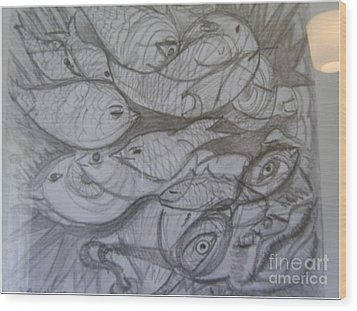 The Sea Diver Wood Print