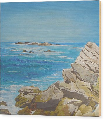 The Sea Wood Print by Leslie Gustafson