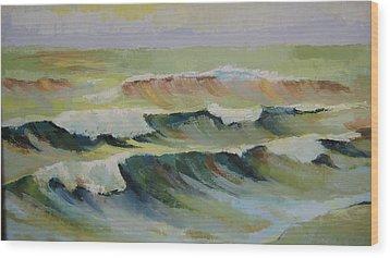 The Sea Wood Print by Mabel Moyano