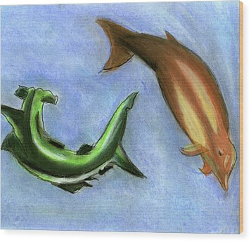 The Sea Of Life Wood Print by Mary and Art with a Heart In Healthcare