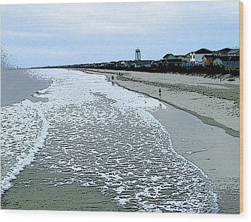 Wood Print featuring the photograph The Seacoast by Skyler Tipton