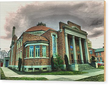 Wood Print featuring the photograph The Seasons Performance Hall  by Jeff Swan