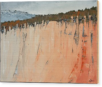 The Second Cliff Edge Wood Print by Carolyn Doe