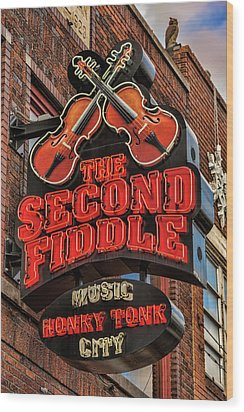 Wood Print featuring the photograph The Second Fiddle Nashville by Stephen Stookey