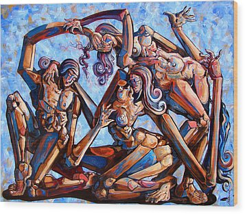 The Seduction Of The Muses Wood Print by Darwin Leon