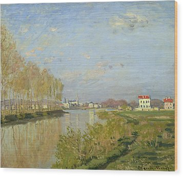 The Seine At Argenteuil Wood Print by Claude Monet