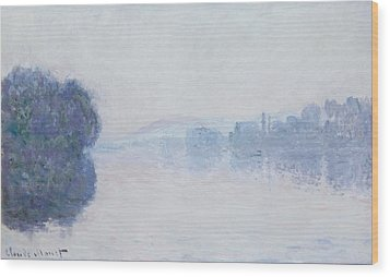 The Seine Near Vernon Wood Print by Claude Monet