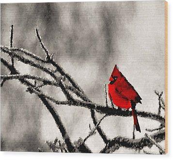 The Sentinel Wood Print by Kristin Elmquist