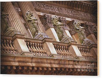 The Sentinels Wood Print by Stephen Melia