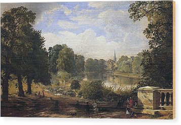 The Serpentine Wood Print by Jasper Francis Cropsey