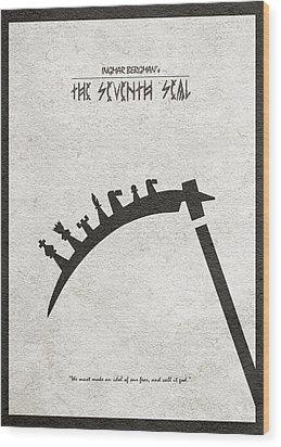 Wood Print featuring the digital art The Seventh Seal Aka Det Sjunde Inseglet by Ayse Deniz