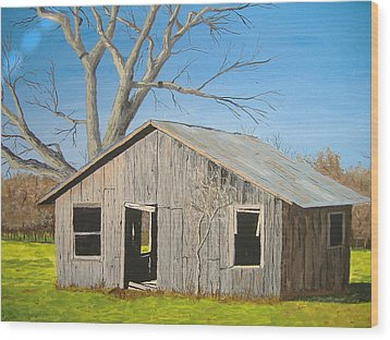 Wood Print featuring the painting The Shack by Norm Starks