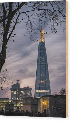 The Shard Wood Print by Glenn DiPaola