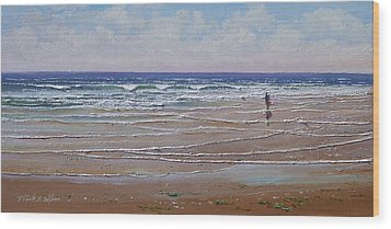 The Shell Collector Wood Print by Frank Wilson