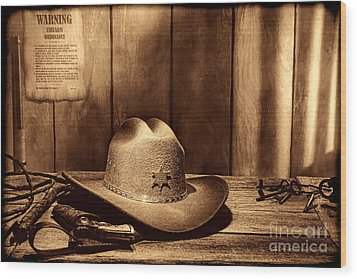 The Sheriff Office Wood Print