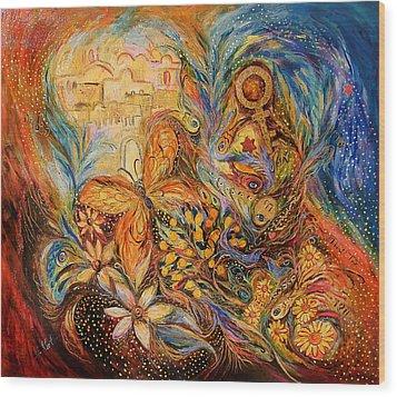 The Shining Of Jerusalem Wood Print by Elena Kotliarker