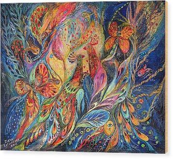 The Shining Of The Night Wood Print by Elena Kotliarker