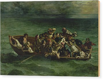 The Shipwreck Of Don Juan Wood Print by Ferdinand Victor Eugene Delacroix