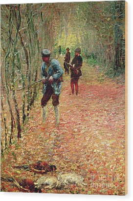 The Shoot Wood Print by Claude Monet