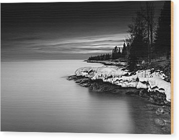 The Shore Wood Print by Mark Goodman