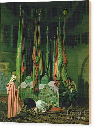 The Shrine Of Imam Hussein Wood Print by Jean Leon Gerome
