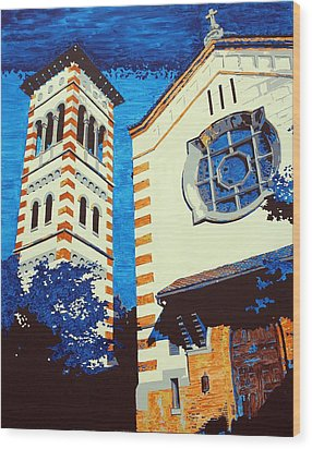 The Shrine Of The Miraculous Medal Wood Print by Sheri Buchheit