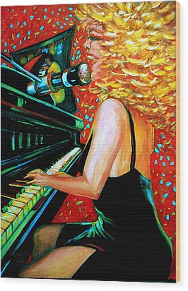 The Singer At Shuckers Wood Print by Jeanette Jarmon
