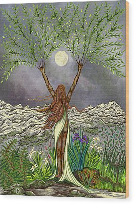 The Singing Girl Wood Print by FT McKinstry