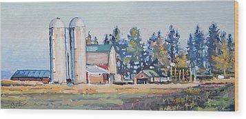 The Sipple Farm Wood Print by Larry Seiler