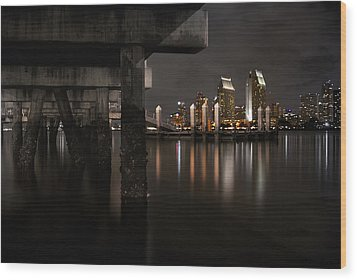 The Skyline Of San Diego Wood Print by Sean Foster