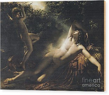 The Sleep Of Endymion Wood Print by Anne Louis Girodet de RoucyTrioson