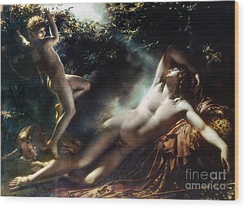 The Sleep Of Endymion Wood Print by Granger
