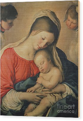 The Sleeping Christ Child Wood Print by Il Sassoferrato
