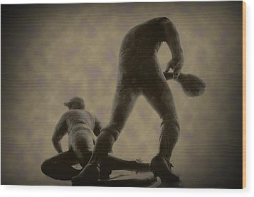 The Slide - Kick Up Some Dust Wood Print by Bill Cannon