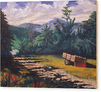 The Smokies Wood Print by Jim Phillips