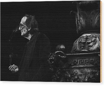 The Smoking Man Wood Print by Todd Fox