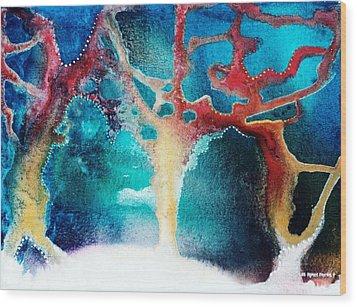 The Snow Birds Wood Print by Lee Pantas