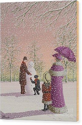 The Snowman Wood Print by Peter Szumowski