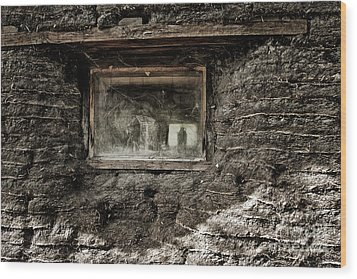 Wood Print featuring the photograph The Sod House by Brad Allen Fine Art