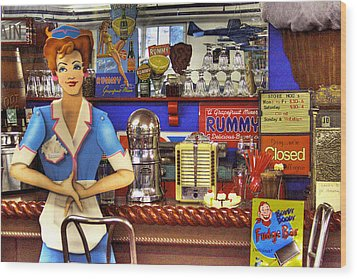 The Soda Fountain Wood Print by David Patterson
