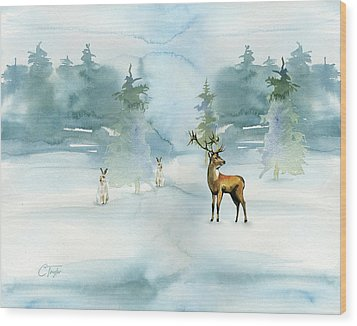 The Soft Arrival Of Winter Wood Print by Colleen Taylor