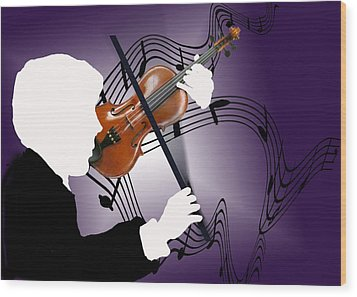 Wood Print featuring the sculpture The Soloist by Steve Karol