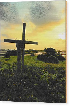 The Son And Sunset Wood Print by Sheri McLeroy