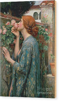 The Soul Of The Rose Wood Print by John William Waterhouse